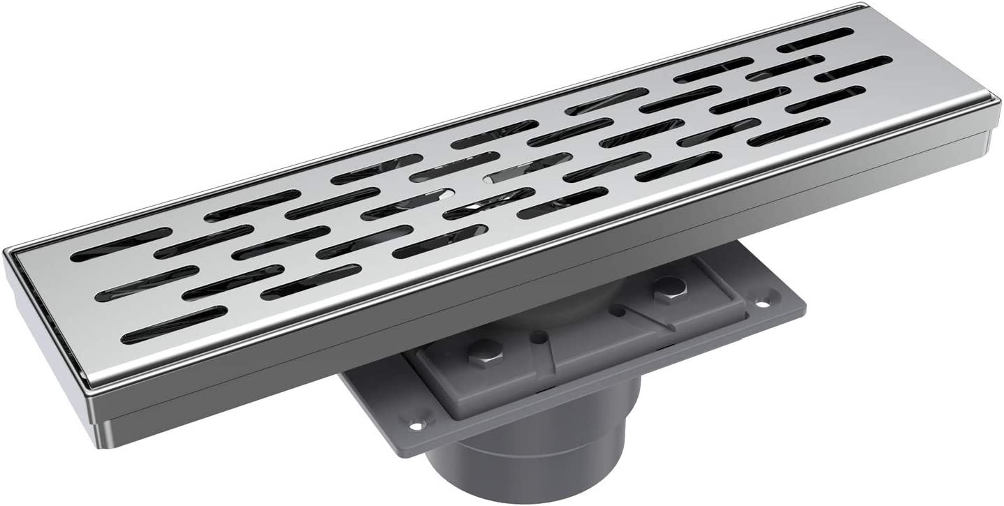 EMBATHER 12 Sales for sale Inches Shower Drain 3 with Rectangular Chrome Linear 40% OFF Cheap Sale