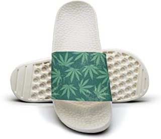 Womens grunge cannabis cure hemp leaves Sandals Slippers New Indoor Shoes