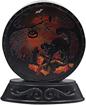 HOLD HIGH Halloween Lights, Retro Round Night Light with Pumpkin Bat Ghost Witch Haunted House Castle Black Cats for Indoor Outdoor Home Door Garden Party Decorations