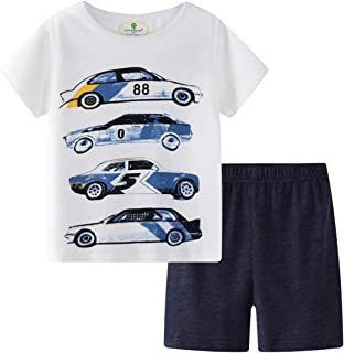 Little Boys' Toddler Clothing Sets T-Shirt&Shorts 2 Packs...
