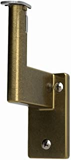 Handrail Bracket for Promenaid System, Antique Brass Finish, ADA Compliant, Clip in Place, Supports 500 lbs, Pivots for All Angles