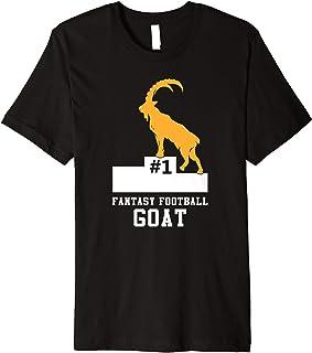 Funny Fantasy Football GOAT Party League Champion Premium T-Shirt
