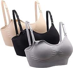 Ancdream 3 Pack Seamless Wirefree Nursing Bra Push up Maternity Bra Pregnancy/Breastfeeding