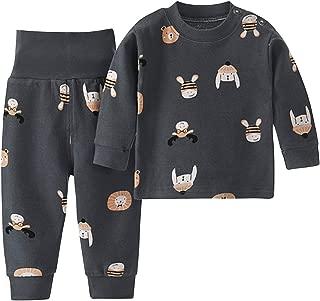 De feuilles M/ädchen 2 St/ück Bekleidungssets f/ür Baby Kurzarm Zerrissen T-Shirt mit Cartoon Druck Shorts Sporthose Kleidung Sets