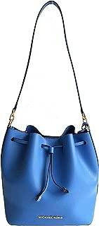 Eden Convertible Drawstring Bucket Shoulder Bag French Blue