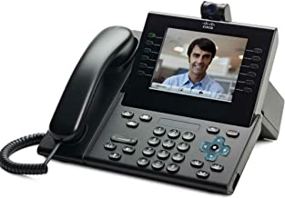Cisco CP-9951-CL-CAM-K9 Unified IP Endpoint Slimline Handset Phone with Camera Charcoal (Certified Refurbished) (Power Supply Not Included)