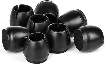 Voarge 16 stuks siliconen stoel been caps vloerbeschermer ronde vierkante meubels voeten covers, vloerbescherming, ronde m...