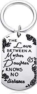 for Mom from Daughter-The Love Between Mother Daughter Birthday Keychain Jewelry Key Chains for Women Girl Keyrings