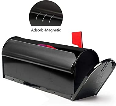 Pansexual Pride Dragon Printed1 Large Capacity Mailbox Decorative Postmount Postal Storage Box 21x18 in