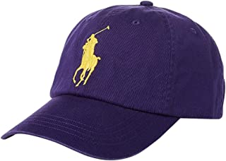 Polo Ralph Lauren Men s Big Pony Chino Cotton Baseball Cap (Purple) 2ff1bbdb46