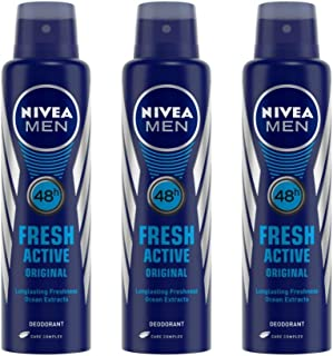 Nivea Fresh Active Deodrant For Men, 150ml (Buy 2 Get 1 Free)