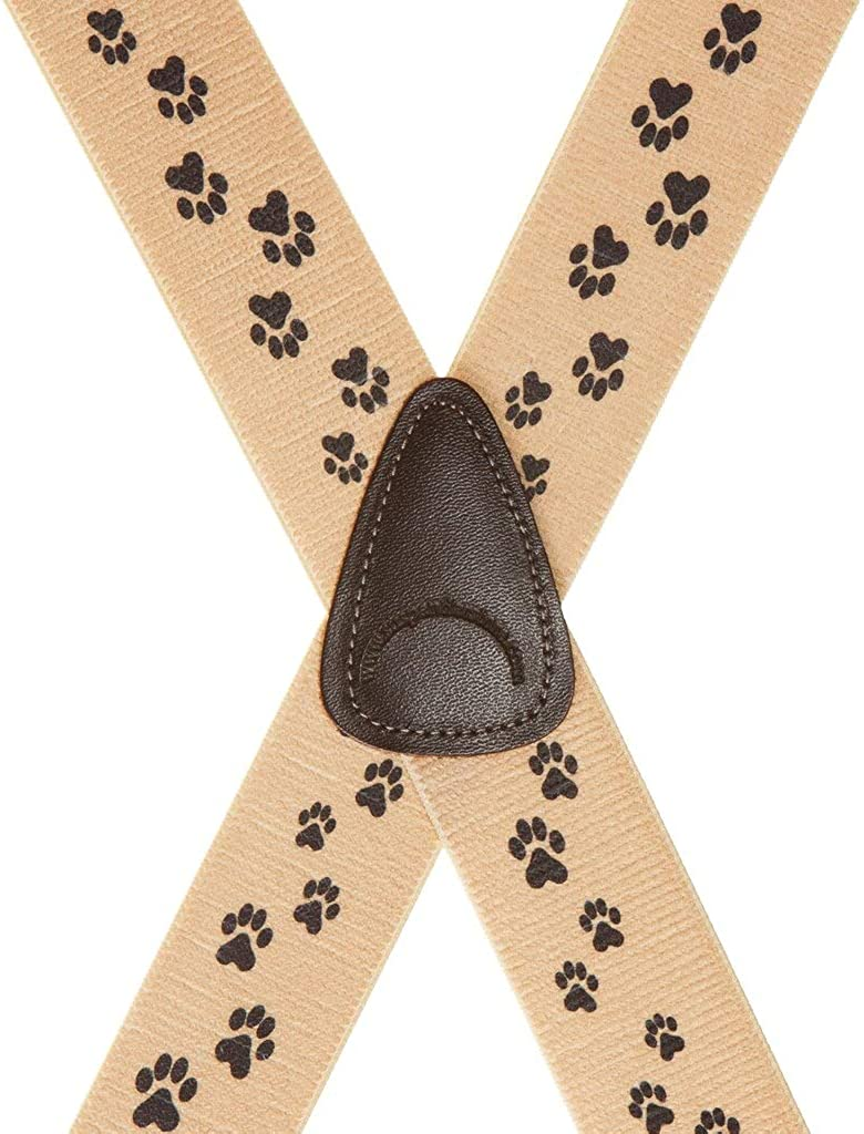 SuspenderStore Men's Puppy Toes Dog Clip-End Novelty Suspenders (3 Sizes)
