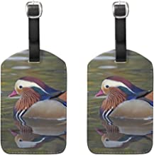 Luggage Tags Mandarin Duck Womens Bag Suitcase Tags Holder traveling accessories Set of 2