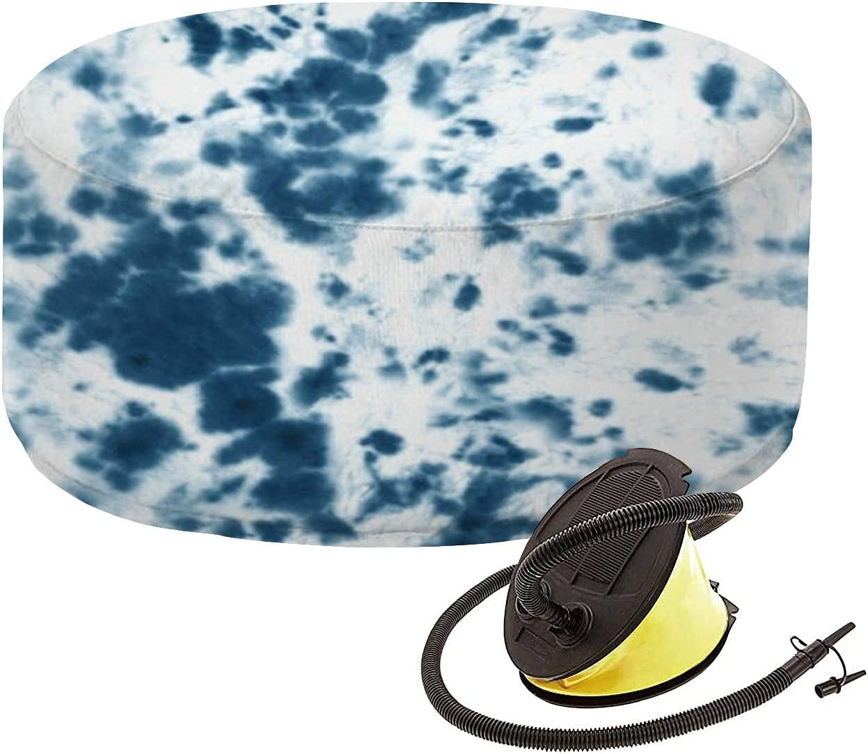 Indoor Free shipping anywhere in the nation It is very popular Outdoor Inflatable Ottoman Tie Patt dye Shibori Seamless