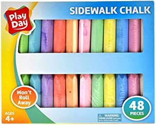 Play Day Sidewalk Chalk,48 Pieces - MultiColour