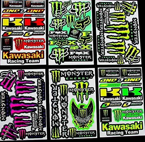 Promo 6 Bogen Aufkleber kkkL selbstklebend Stickers Rockstar Energy Drink BMX Moto-Cross Decals Abziehbilder MX