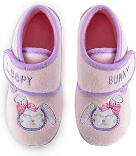 DINZIO Toddlers Kids Bunny Sleeping Slippers