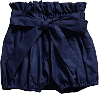Baby Infant Toddler Girls Bowknot Ruffle Bloomers Shorts