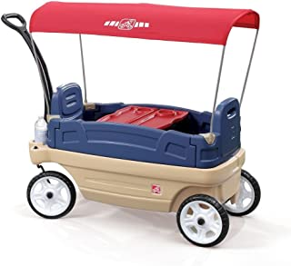 Step2 Whisper Ride Touring Wagon, Blue and Off-White 837200