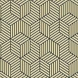RoomMates RMK10707WP Metallic Gold and Black Striped Hexagon Peel and Stick Wallpaper
