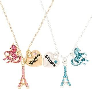Girl's Sisters Paris Magic Pendant Necklaces - 2 Pack