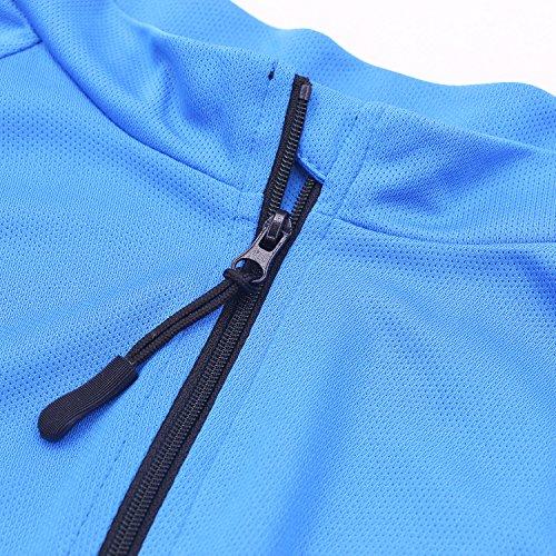 Arsuxeo Herren-Fahrradtrikot, enge Passform, Kurzarm, Fahrrad, MTB-Shirt, Herren, blau, US S - 6