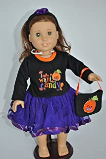 Unique Doll Clothing Halloween Costume with Candy Design for 18 Inch Dolls Including the American Girl Line