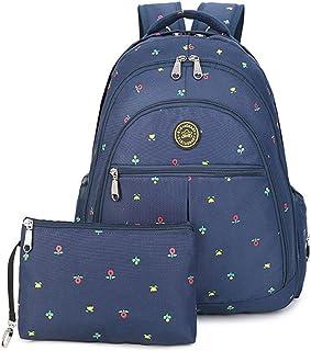 YuHan baby blöjväska reseryggsäck handväska stor kapacitet isoleringsväska passar barnvagn blöja ryggsäck bärväska Blå blomma
