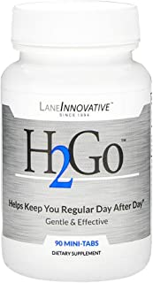 Lane Labs - H2Go, Helps Relieve Constipation and Irregularity, Gentle and Effective, Natural Mineral Supplement, Supports Colon and Digestive Health, No Artificial Irritation (90 Mini-tabs)