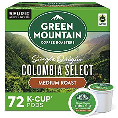 Green Mountain Coffee Colombian Fair Trade Select, Keurig K-Cups, 72 Count
