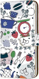 手帳型 カードタイプ スマホケース LG V20 PRO L-01J 用 [キッチン・白ブルー系] 北欧柄 クッキング エルジー ブイトゥエンティ プロ docomo スマホカバー 携帯ケース スタンド kitchen 00r_131@01c