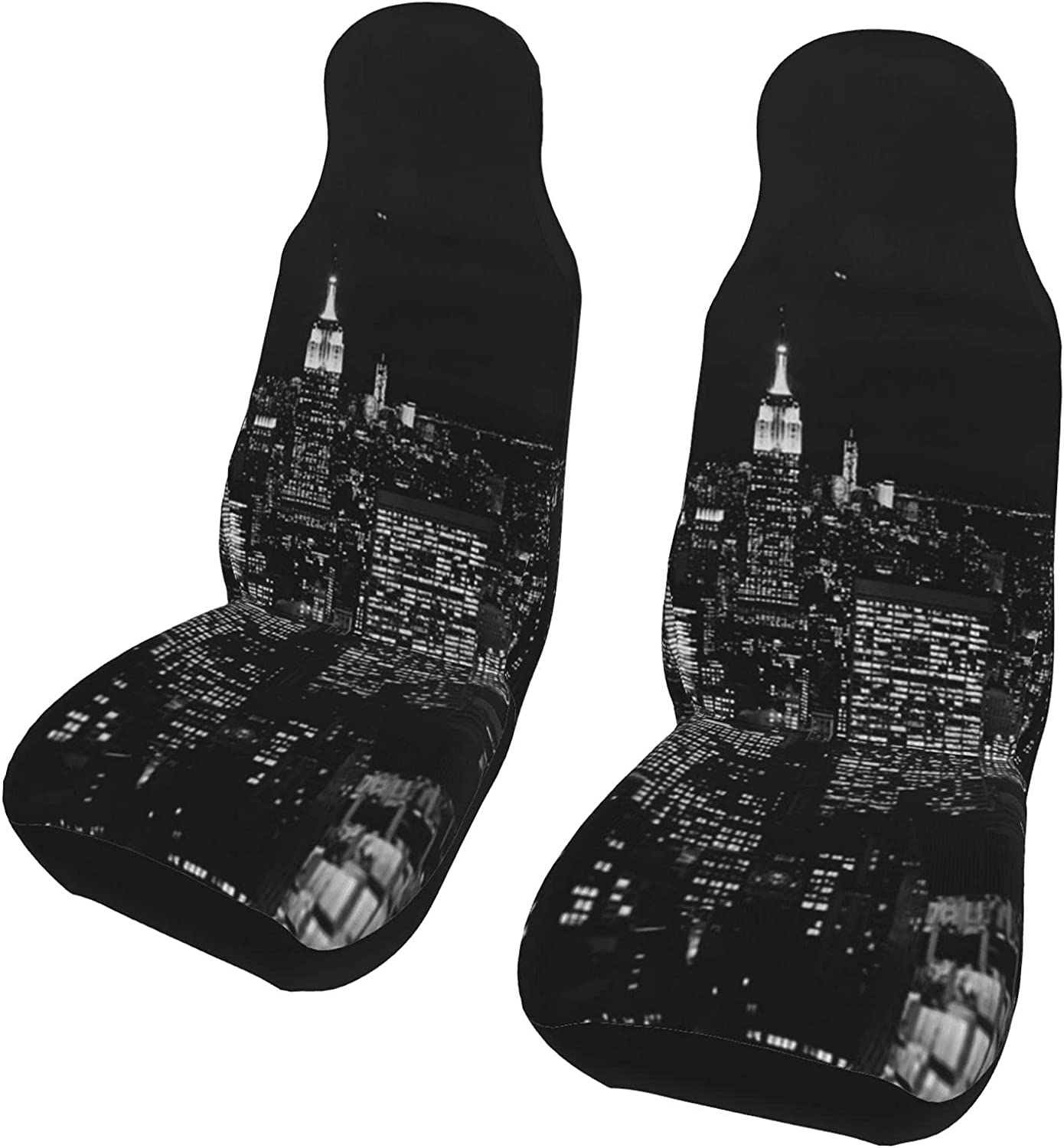 Qusnion Car Seat Covers Front 2 Cover City Seats Max 49% OFF Night Bargain sale