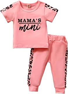 Newborn Baby Girl Clothes Outfits Short Sleeve Tops with...