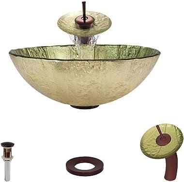 623 Oil Rubbed Bronze Waterfall Faucet Bathroom Ensemble