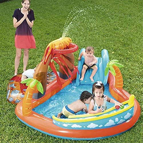ZCYXQR Castillo Inflable para niños Piscina aireada con tobogán y Fuente Piscina Infantil para niños Bebés en Jardines (Deportes al Aire Libre)