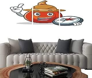 UHOO 3 Piece Wall Art Painting Explorer red kuri Squash Mascot Cartoon. Living Room Kitchen 12