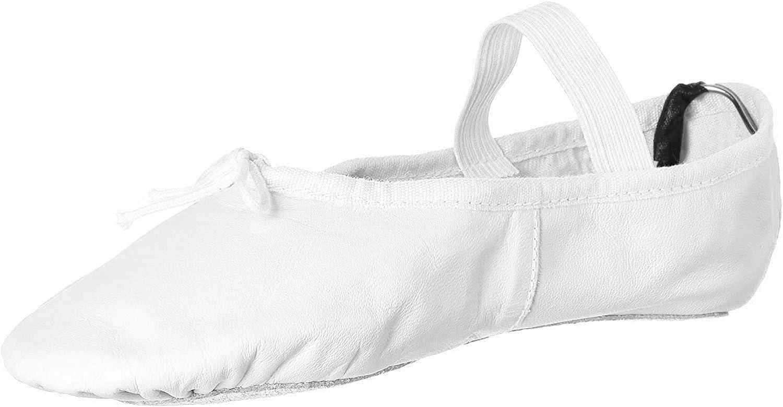 Leo Women's Ballet Russe Dance Shoe, White, 5.5 C US
