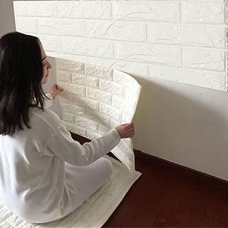 Saihui 1PCS Pegatina de Azulejos Ladrillo - PE Más espeso de espuma de 3D Wallpaper DIY pared pegatinas Decoración de pared 60 x 60cm (A)