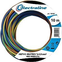 Electraline 25139, H07V-K Cable, Sección 1x1.5 mm, 10m, Multicolor