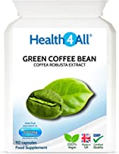 Green Coffee Bean Extract 5000mg 90 Capsules V 1 Month Supply Decaffeinated Safe 50 Chlorogenic Acid for Weight Management Made by Health4All Estimated Price : £ 7,99