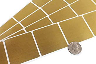 "50 Metallic 2"" Gold Square Scratch-Off Lottery Stickers for Gender Reveals and Vendor Events"