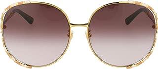Luxury Fashion | Gucci Womens GG0595S008 Gold Sunglasses | Fall Winter 19