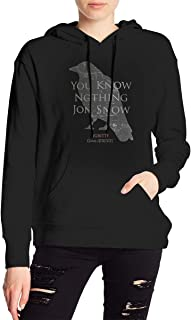 Sexy WomanPersonalized Game of Thrones You Know Nothing Jon Snow with Hood Bag New Hoodie Black