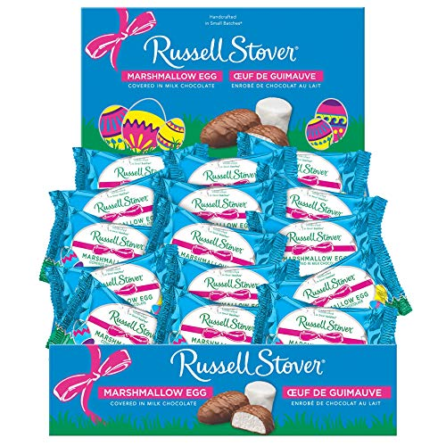 Russell Stover Milk Chocolate, Marshmallow Egg, 1 oz, 36Count