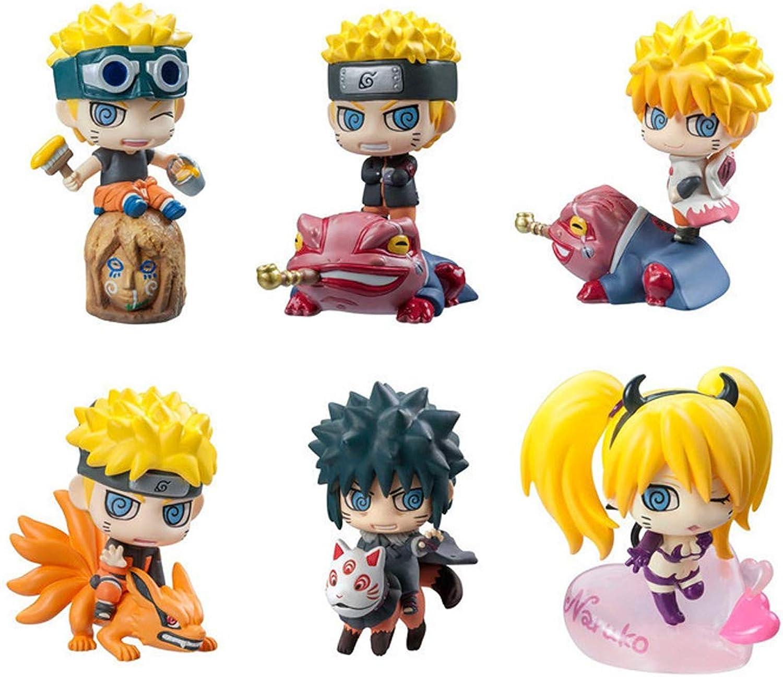 KGMYGS Spielzeug Statue Naruto Spielzeug Modell Cartoon Charakter Dekoration Sammlerstücke Kunsthandwerk Q Edition 6-teiliges Set B07P76NCJQ  Wir haben von unseren Kunden Lob erhalten.     | Neues Produkt