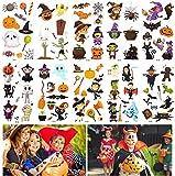 DQMOON 10 Pegatinas de Tatuaje de Halloween, Pegatinas de Tatuaje de Dibujos Animados para niños,...