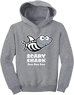 Tstars Scary Shark Doo doo doo Song Funny Halloween Toddler Hoodie