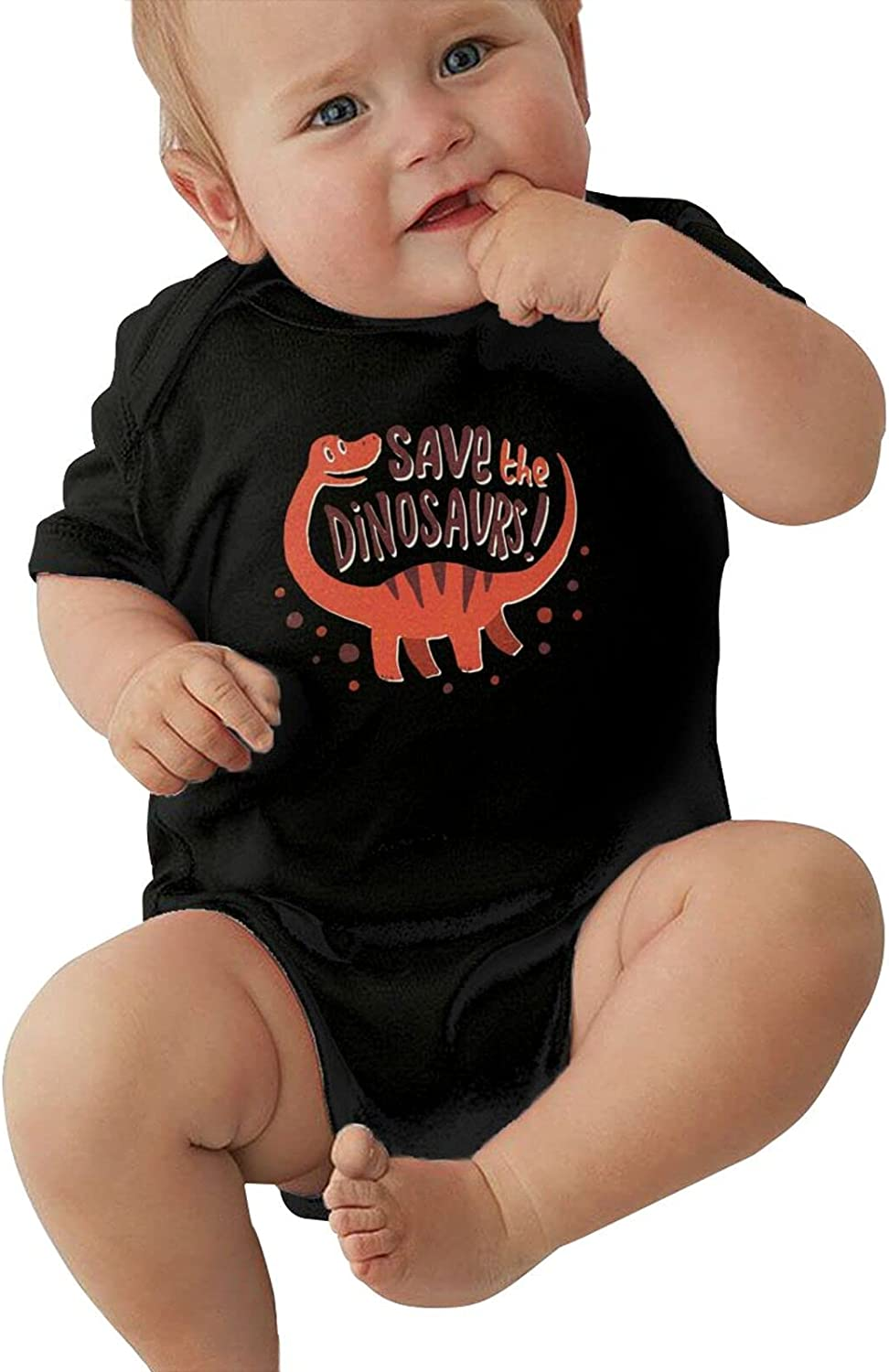 Save The Dinosaurs Unisex Minneapolis Mall Baby Sleeve Short Cool Tights Stretchy Ranking TOP3