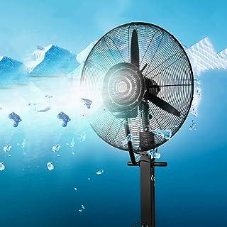 Soporte Bocina Pedestal grande negro Aire acondicionado Aerosol atomizador Ventiladores Refrigeración por agua Chasis Ventilador Cabezal sacudidor 3.er engranaje Fábrica fácil de mover 71 / 81cm