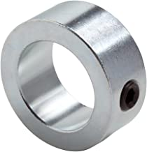 "Climax Metal C-100 Shaft Collar, Zinc Plated Steel, Set Screw Style, One Piece, 1"" Bore, 1-1/2"" OD, 5/8"" Wide, With 5/16-18 Set Screw"